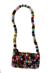 FELT BALL LONG HANDIL PURSE 14