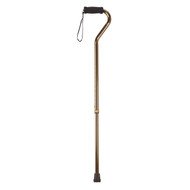 Foam Grip Offset Handle Walking Cane, Bronze