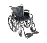 "Silver Sport 2 Wheelchair, Detachable Desk Arms, Swing away Footrests, 16"" Seat"