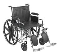 "Sentra EC Heavy Duty Wheelchair, Detachable Desk Arms, Elevating Leg Rests, 20"" Seat"