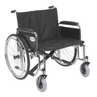 "Sentra EC Heavy Duty Extra Wide Wheelchair, Detachable Full Arms, 26"" Seat"