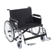 """Sentra EC Heavy Duty Extra Wide Wheelchair, Detachable Full Arms, Swing away Footrests, 28"""" Seat"""