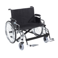 "Sentra EC Heavy Duty Extra Wide Wheelchair, Detachable Desk Arms, Swing away Footrests, 30"" Seat"