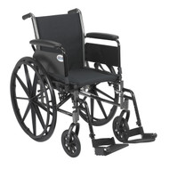 "Cruiser III Light Weight Wheelchair with Flip Back Removable Arms, Full Arms, Swing away Footrests, 16"" Seat"