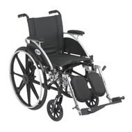 """Viper Wheelchair with Flip Back Removable Arms, Desk Arms, Elevating Leg Rests, 12"""" Seat"""