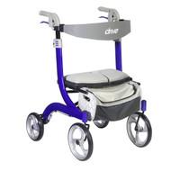 Nitro DLX Euro Style Walker Rollator, Sleek Blue