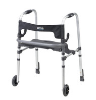 Clever Lite LS Walker Rollator with Seat and Push Down Brakes
