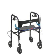 "Clever Lite Walker Rollator, Adult, 8"" Wheels, Flame Blue"