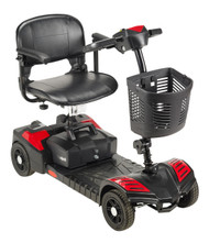 Scout Compact Travel Power Scooter, 4 Wheel, Extended Battery