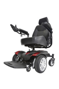 "Titan Transportable Front Wheel Power Wheelchair, Full Back Captain's Seat, 20"" x 18"""