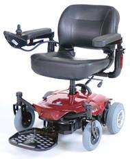 Cobalt Travel Power Wheelchair, Red