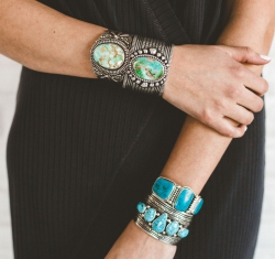Silver Turquoise Bracelets