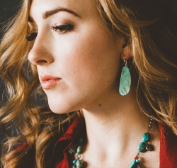 Turquoise Slab Earrings