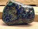 Azurite fused with Malachite
