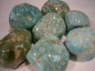 Large Polished Carico Lake Turquoise Nuggets