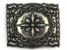 Handmade Sterling Silver Belt Buckle by Darryl Becenti, Navajo