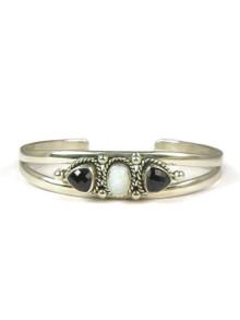 Sterling Silver Onyx & Opal Bracelet