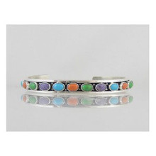 Sterling Silver Multi Gemstone Bracelet (BR0817)