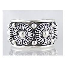"""Tom Charley Sterling Silver Cuff Bracelet - 1 1/2"""""""