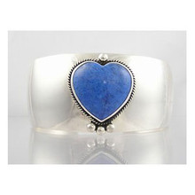 Denim Lapis Heart Bracelet