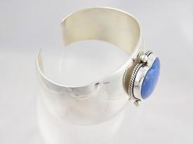 Denim Lapis Heart Bracelet