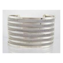 Tahe Wide Sterling Silver Cuff Bracelet