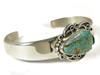Brown Webbed Royston Turquoise Bracelet by Raymond Coriz, Santo Domingo
