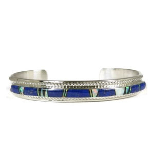 Lapis, Jet & Opal Inlay Bracelet by Thomas Francisco