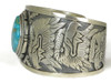 Beautiful Water Web Kingman Turquoise Eagle & Eagle Kachina Dancer Bracelet by Freddy Charley