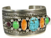 Kingman Turquoise, Spiny Oyster Shell & Gaspeite Cuff Bracelet by Darryl Becenti (BR2864)