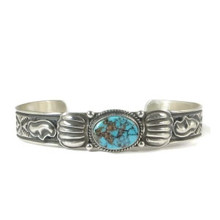 Kingman Turquoise Bracelet by Guy Hoskie
