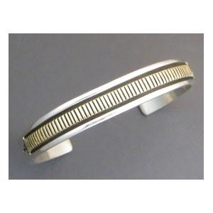 14k Gold & Sterling Silver Bracelet Large Size by Bruce Morgan