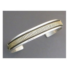 14k Gold & Sterling Silver Bracelet Large Size by Bruce Morgan