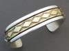 14k Gold & Sterling Silver Bracelet Large by Bruce Morgan (BR2961)