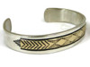 14k Gold & Sterling Silver Bracelet by Bruce Morgan