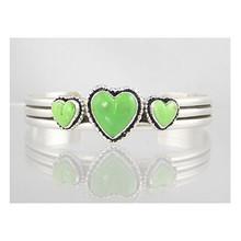 Gaspeite Heart Bracelet