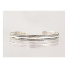 "Sterling Silver Feather Bracelet 1/4"""
