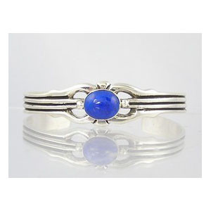 Sterling Silver Lapis Bracelet (BR3060)