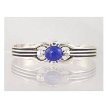 Sterling Silver Lapis Bracelet (BR3065)