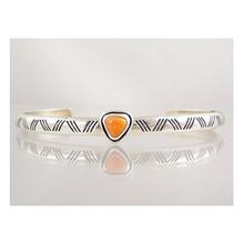Sterling Silver Spiny Oyster Shell Bracelet (BR3097)