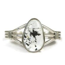 Silver White Buffalo Bracelet by J Piaso Jr