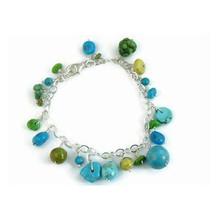 Turquoise Beaded Charm Bracelet