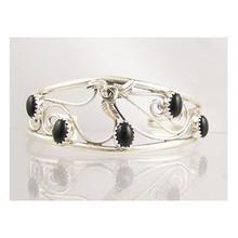 Sterling Silver Onyx Bracelet (BR350)