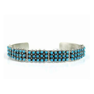 Turquoise Snake Eye Bracelet by April Haloo, Zuni Indian Jewelry