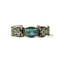 Spider Web Turquoise Mountain Thunderbird Bracelet by Andy Cadman, Navajo