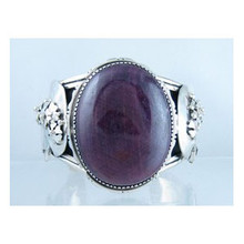 Sterling Silver Large Gem Purple Spiny Oyster Shell Bracelet - Christopher Nieto