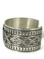 """Silver Thunderbird Cuff Bracelet 1 1/8"""" Wide by Sunshine Reeves"""