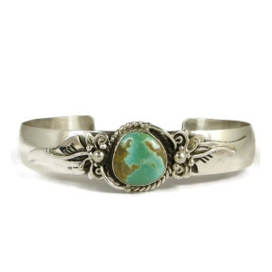 Natural Royston Turquoise Bracelet by Fritson Toledo (BR3718)