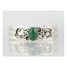 Sterling Silver Malachite Bracelet (BR4031)