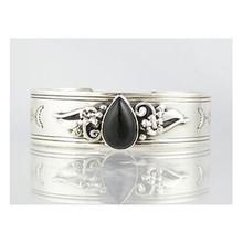 Sterling Silver Onyx Bracelet (BR4032)
